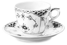 Fluted Porcelain Cup & Saucer