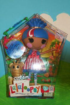 Custom OOAK Lalaloopsy Doll Olive America Firework 4th July Brand New Reboxed
