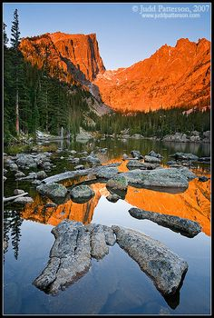 Dream Lake, Rocky Mountain National Park, Colorado, United States - by © Judd Patterson Oh The Places You'll Go, Places To Travel, Places To Visit, Rocky Mountains, Parque Natural, Rocky Mountain National Park, Ciel, Vacation Spots, Beautiful Landscapes