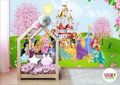 Fototapet Copii Disney Princes - VIODesign Disney Princes, Toddler Bed, Design, Furniture, Home Decor, Art, Character, Photo Wallpaper, Child Bed