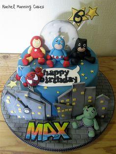 Baby Superheroes Cake by Rachel Manning Cakes, via Flickr