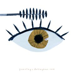 mascara eye blink animation - illustration by Penelope Dullaghan