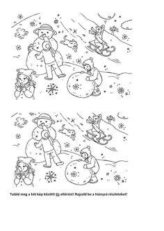 játszani is engedd: Tíz különbség - téli sport - színező