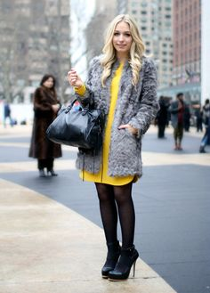 Zara coat and dress  Deena & Ozzy shoes  Balenciaga City bag. The pop if yellow is great with the neutrals.