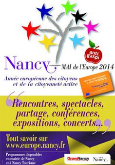 12ème édition du Mai de l'Europe. Du 15 avril au 1er juin 2014 à Nancy.