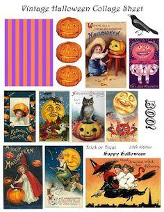 **FREE ViNTaGE DiGiTaL STaMPS**: Free Vintage Printable - Halloween Collage