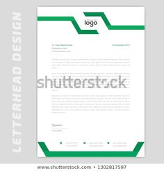 Business style letter head templates for your project design, Vector illustration. Business Style, Business Design, Business Fashion, Free Letterhead Templates, Word Templates, Letterhead Design Inspiration, Printed Materials, A4, Resume