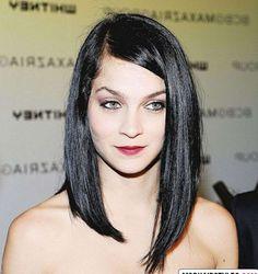 Siyah Asimetrik uzun Saç Modelleri