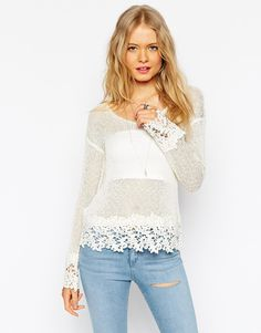 ASOS+Swing+Top+With+Crochet