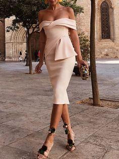 Off Shoulder Ruched Irregular Bodycon Dress