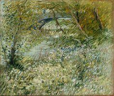 1887 Van Gogh Bank of the Seine at the pont de Clichy in spring(Dallas Museum)