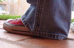 Eu Amo Artesanato: Barra de calça jeans