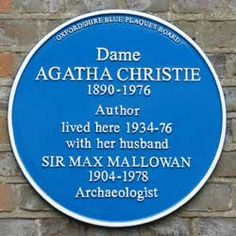 Plaque for Agatha Christie