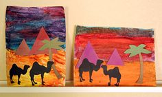 pyramids art project to do while studying Egypt