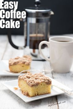 This easy coffee cake recipe will make your mornings a little better. It's freezable so enjoy it today and save leftovers. Coffee time just got even better!
