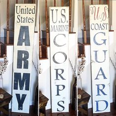 thesimplyinspiredshop: (U.S. Marine Corps) (U.S. Coast Guard) (U.S. Army) American military men and women sacrifice so much for our freedom! This front porch sign is a good way to honor those who have served or are currently serving our country! We want to thank all the military families and servicemen and women who have sacrificed so much! Preview price and size over at our new restock preview page @previewsimplyinspired These be available for purchase during our restock on Sunday April ...