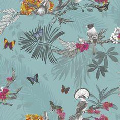 Mystical Forest Wallpaper - Teal - 664801
