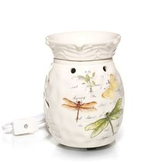 Everyday Butterfly & Dragonfly Ceramic Electric Tarts® wax melts Warmer w/LED in Spring 2013 from Yankee Candle on shop.CatalogSpree.com, my personal digital mall.