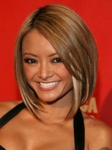 Love the angled bob short hair!