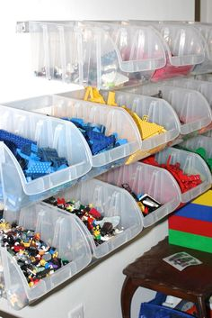 LEGO Storage Ideas To Keep Your Bricks Organized - - LEGO bricks need a home so you can avoid losing and stepping on them. Keep reading for a handful of awesome LEGO storage ideas for your home.