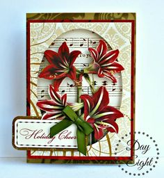 Christmas Cards 2017, Xmas Cards, Vintage Christmas, Holiday Cards, Christmas Holidays, Christmas Crafts, Poinsettia Cards, Spellbinders Cards, Anna Griffin Cards