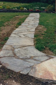 This article provides useful information on building stone walkways or paths that accentuate the look and style of your house plan. Description from landscapinggallery.info. I searched for this on bing.com/images
