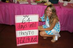 Bridal Shower - it will be 87 days