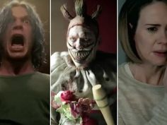 The new trailer is packed with creepy clowns, but Donald Trump's Election Night win gets the most visceral reaction from the cast.