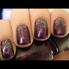 This deep purple hue is perfect for the season. With a little added #glitter @clairesstores #meadowbrookmall