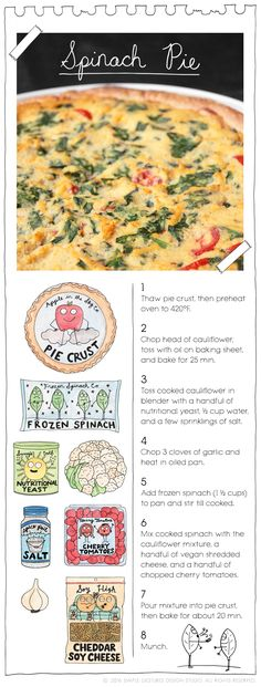 Spinach Pie by The Vegan Stoner. More at: TheVeganStoner.com