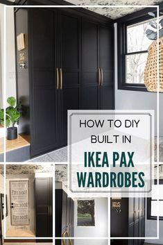 DIY Built In Ikea Pax Wardrobes - -You can find Wardrobes and more on our website.DIY Built In Ikea Pax Wardrobes - - Ikea Wardrobe Hack, Ikea Pax Hack, Ikea Pax Closet, Diy Wardrobe, Closet Bedroom, Master Bedroom, Ikea Pax Doors, Entryway Closet, Mudroom