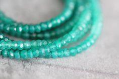 Green Onyx Full Strand 14 inch Strand by StoneCreekSurplus on Etsy
