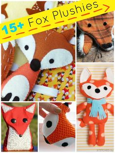 15 + fox plushies and sewing projects | plushie patterns