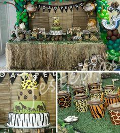 cumpleaños jungla - Buscar con Google