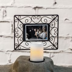 Candle Impressions Flameless Candle Picture Frame with a Timer