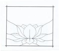 lotus suncatcher pattern by Carol Boyette