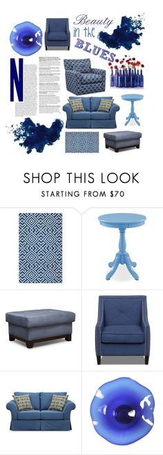 Beauty in the Blues by amsigfurniture on Polyvore featuring interior, interiors, interior design, home, home decor, interior decorating, CABARET, blues, homedecor and homedesign