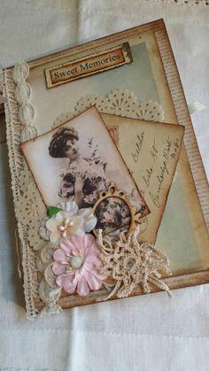 Vintage Junk Journal Notebook Love Theme WrIters Journal Memory Book Album