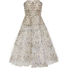 Moda Operandi (€7.848) ❤ liked on Polyvore featuring dresses, white feather dress, strapless corset, white feather cocktail dress, white beaded dress and white beaded cocktail dress
