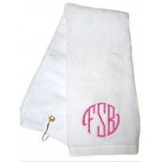 Preppy Ladies Monogrammed Golf Towel