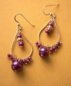 Bollywood Indian Earrings Ruby Gold Jewelry by laurastark on Etsy, $120.00