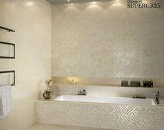 Re.si.de. di Ceramiche Supergres, il rivestimento bagno che riproduce l'eleganza del marmo e della pietra naturale