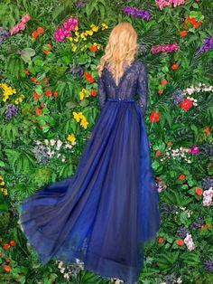 AMBAR STUDIO 2019 Amna Blue Dress