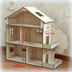 This item is unavailable Dollhouse open type. Cardboard Dollhouse, Wooden Dollhouse, Cardboard Crafts, Diy Dollhouse, Barbie Furniture, Dollhouse Furniture, Kids Furniture, Doll House Plans, Barbie Doll House