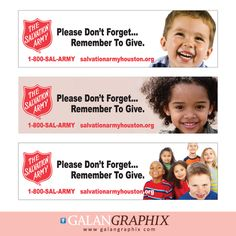 Billboard designs for The Salvation Army by GalanGraphix.com