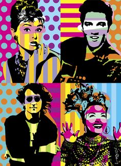New Pop Art Painting Andy Warhol Elvis Presley 58 Ideas Bd Pop Art, Pop Art Collage, Collage Ideas, Pop Art Decor, Pop Art Portraits, Art Plastique, Comic Art, Art Projects, Street Art