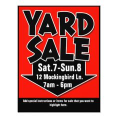 yard sale signs and printables