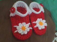 Ravelry: ♥ CROCHET RED BABY SANDAL ♥ pattern by Melody Lagurin