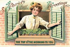 These free vintage St. Patrick& Day greeting cards feature pretty Irish women from the to the Century, celebrating the holiday that honors Saint Patrick of Ireland. Vintage Greeting Cards, Vintage Postcards, Vintage Images, Top Vintage, Clipart Vintage, Holiday Postcards, Vintage Clip, Vintage Signs, St Patricks Day Cards