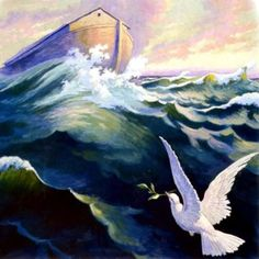 dove with olive branch photo: NOAHS DOVE RETURNS TO THE ARK WITH AN OLIVE BRANCH Noah024-1.jpg
